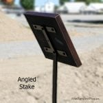 48″ ANGLED ground stake-stake ships separate (+$60)
