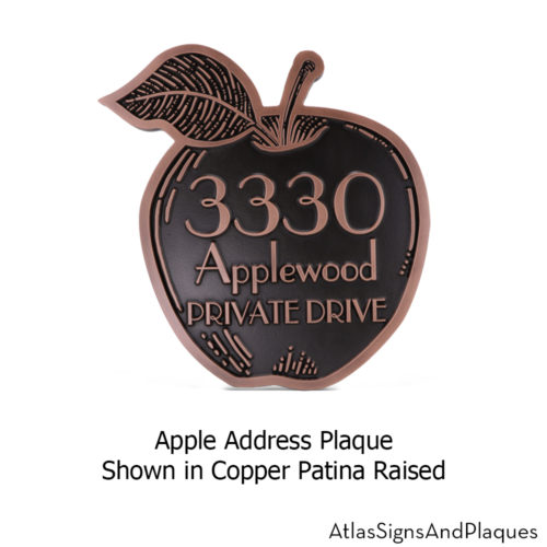 apple address plaque