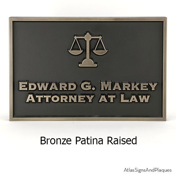 Bronze Metal Coated Attorney at Law Sign with Scale