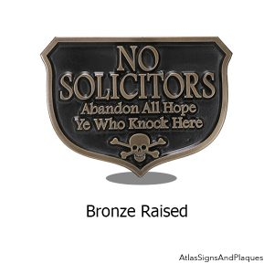 Bronze Abandon Hope Solicitors