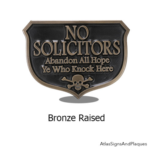 Bronze Abandon Hope Solicitors