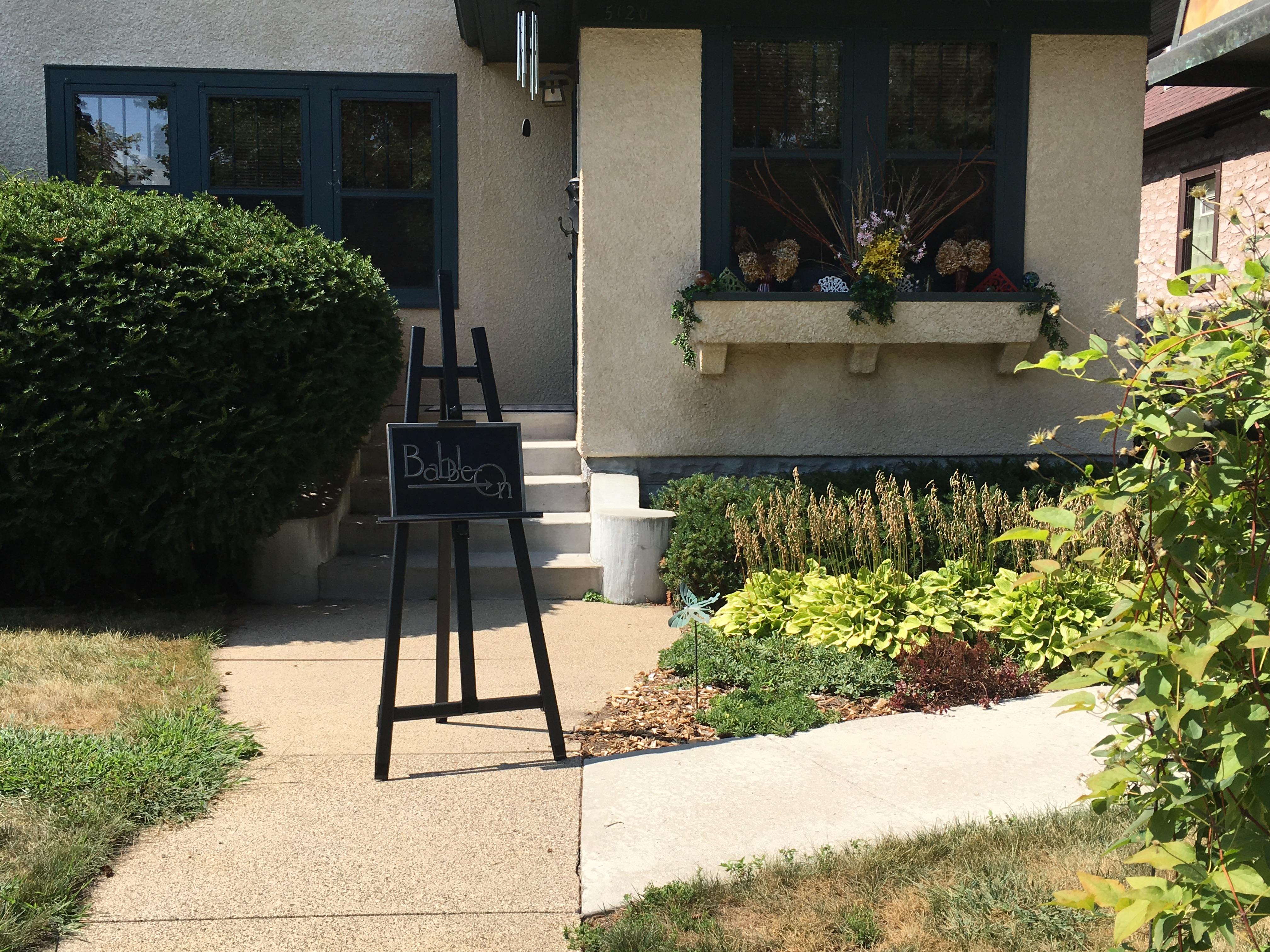 Babble-On Front Door Sign