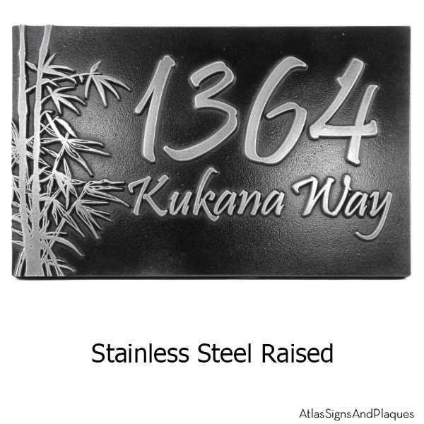 Bamboo Address Plaque Stainless Steel