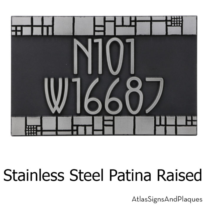 Batchelder Tile Address Plaque
