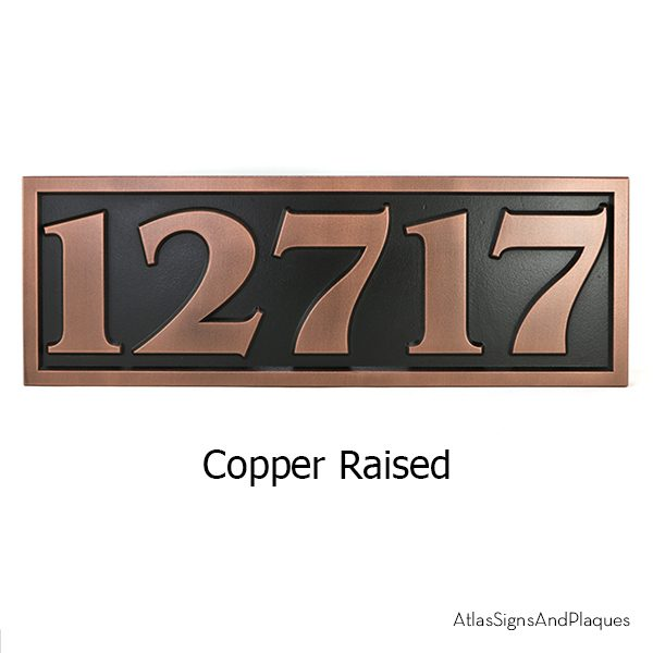 Benguait Address Numbers Sign Copper Raised