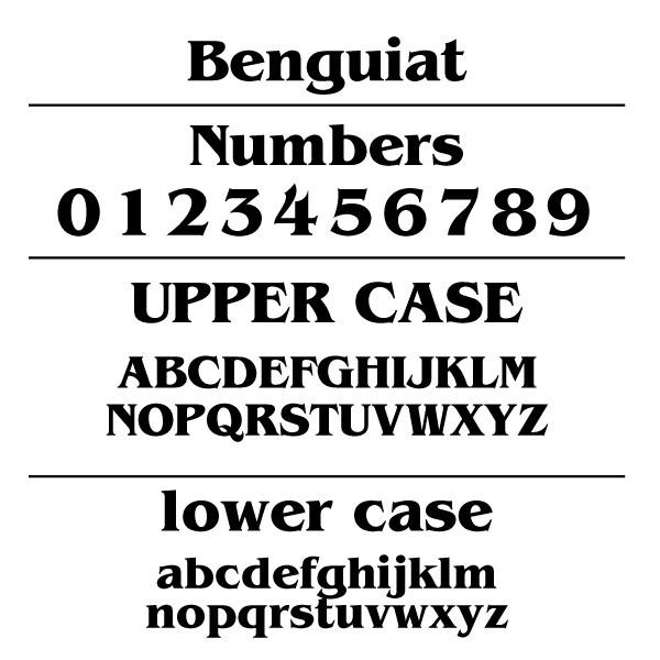 Benguait Font Card