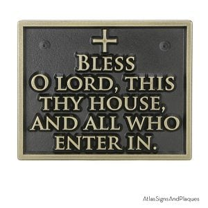 Bless This House Bronze Raised
