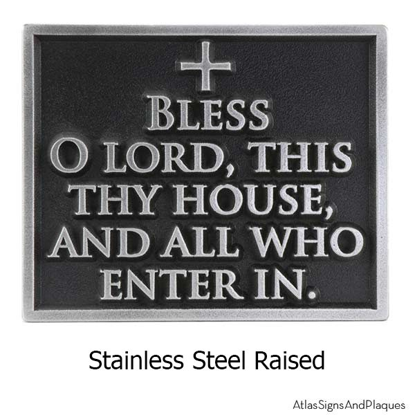 Stainless Steel Blessing Welcome Plaque