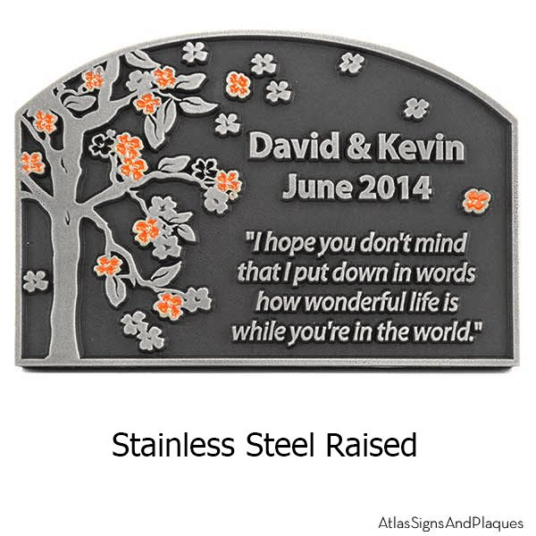 Stainless Steel Blossom Tree Plaque
