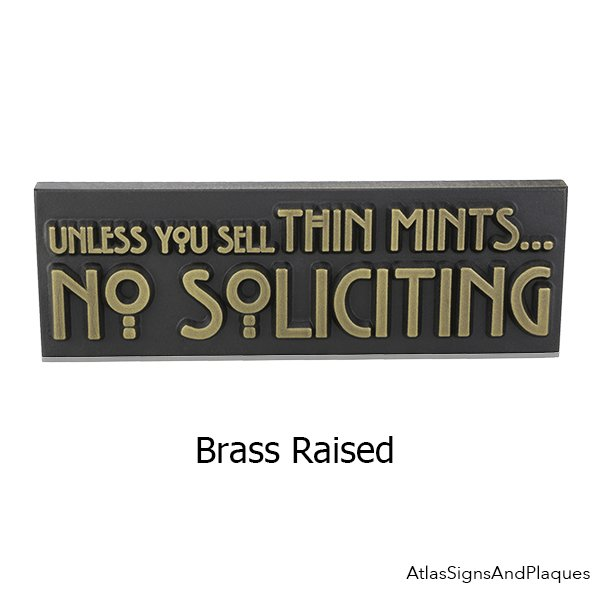 Thin Mints No Soliciting Sign