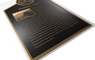 """24""""H x 12""""W Precision Tooled Bronze with Etched Insert"""