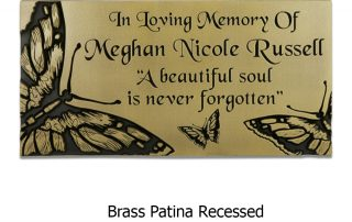 butterfly memorial plaque