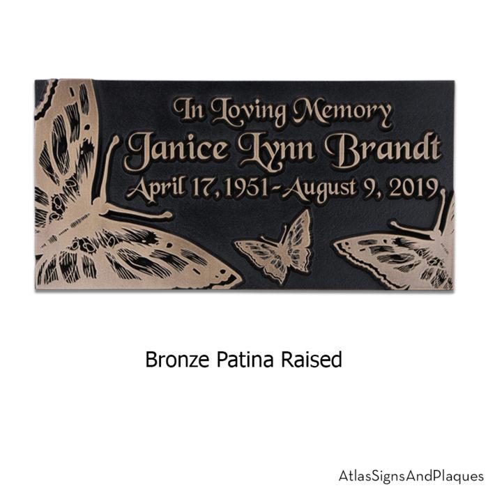 butterfly memorial plaque