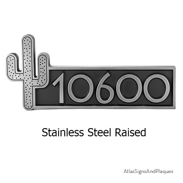Stainless Steel Cactus Name Plaque