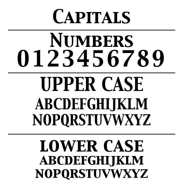 Capitals-Font-Card
