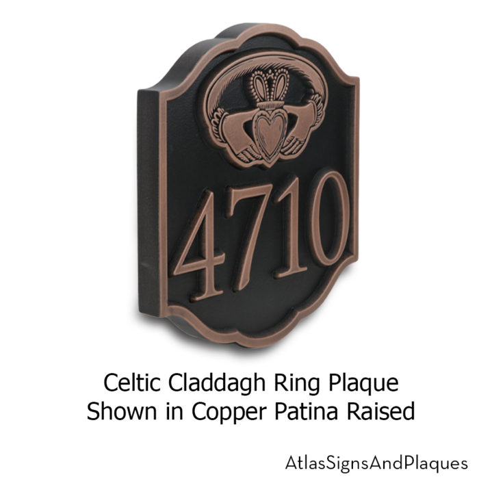celtic claddagh ring side view