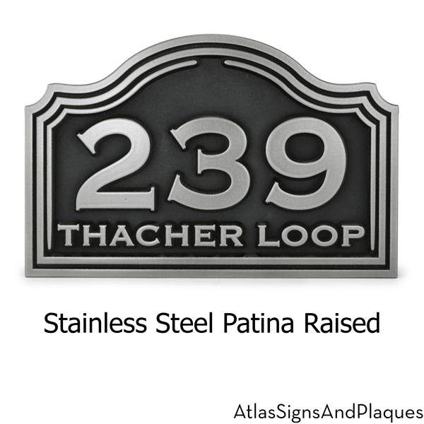 Classic Arch Address Plaque