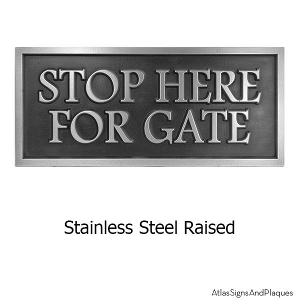 Stainless Steel Custom Community Sign