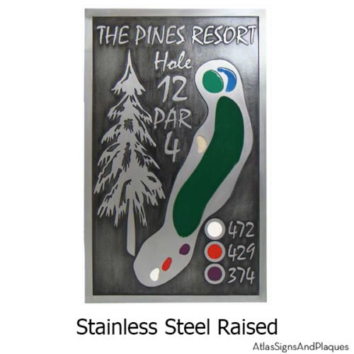 Stainless Steel Custom Tee Sign