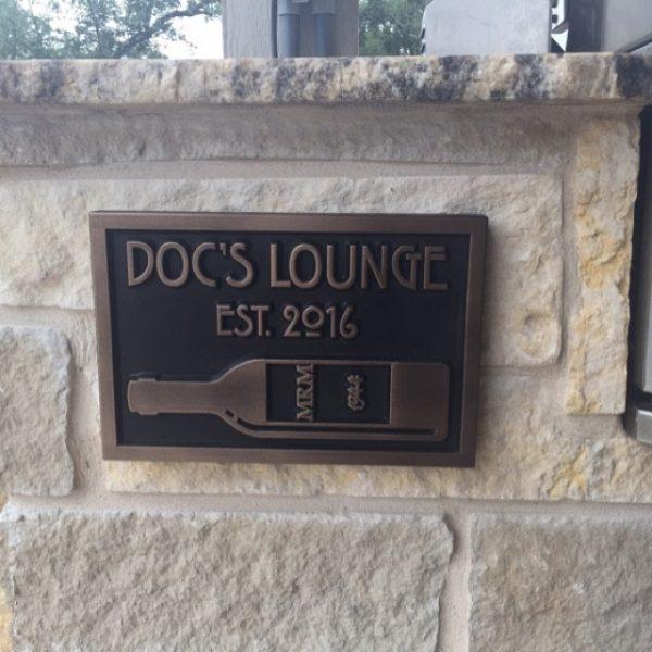 Custom Bar Sign shown in Bronze