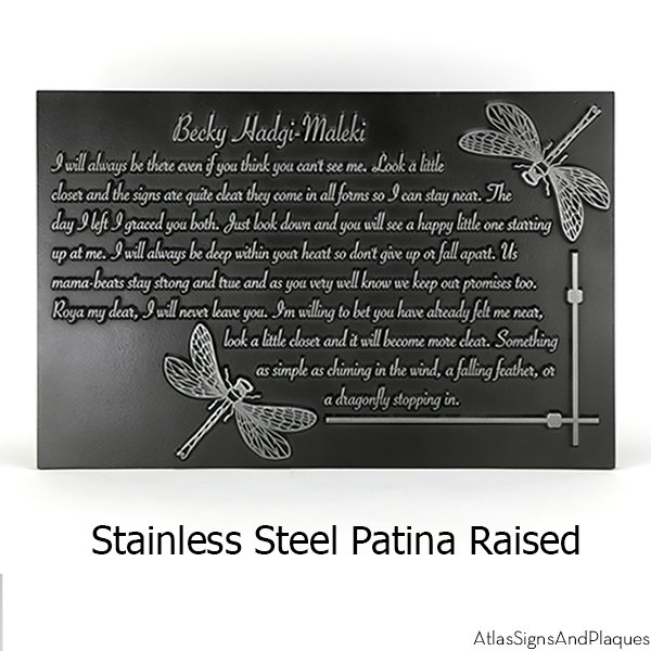 Dragonfly Memorial Sign