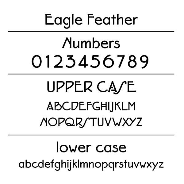 Eagle Feather Font