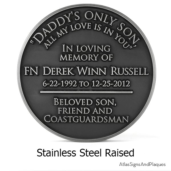 Eagle Scouts Plaque Stainless Steel Raised