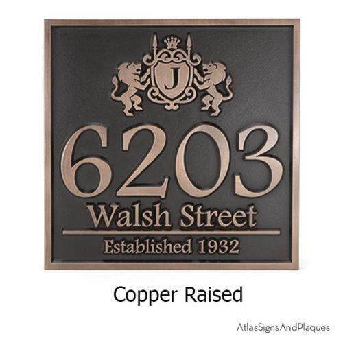 Family Crest Address Sign
