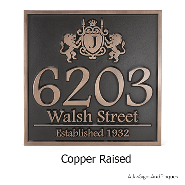 Family Crest Address Sign