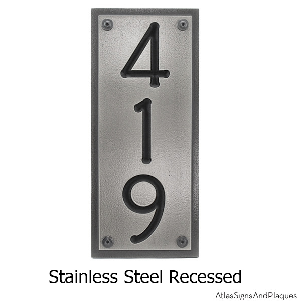 Stainless Steel Vertical Address Plaque