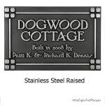 Customized Frank Lloyd Craftsman Address Plaque