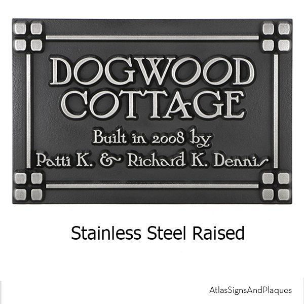 Customized Frank Lloyd Craftsman Address Plaque