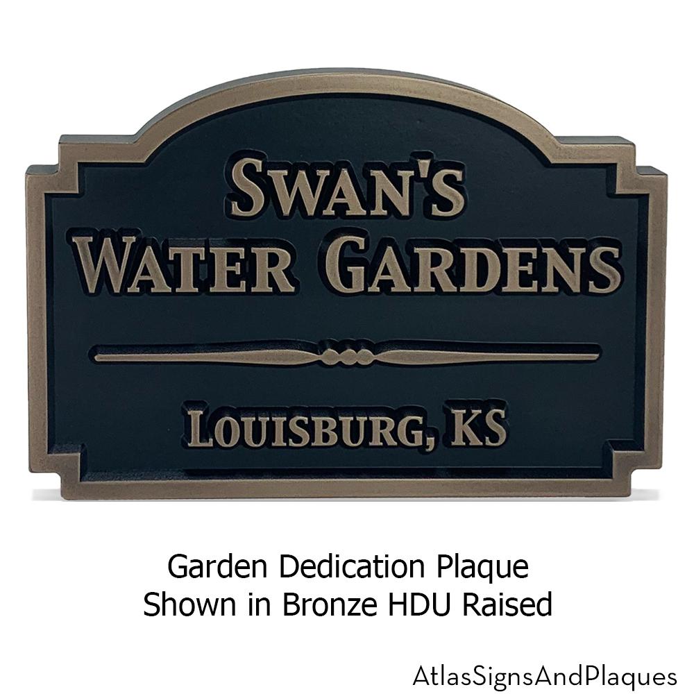 garden dedication plaque