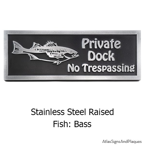 Stainless Steel Gone Fishing Plaque