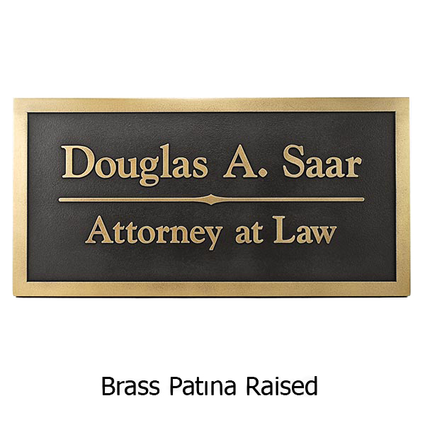 Brass Goudy Business Plaque