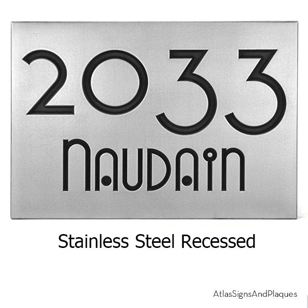 Address Plaque Stainless Steel