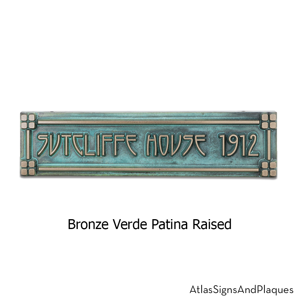 horizontl american craftsman plaque