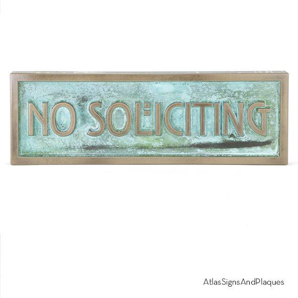 No Solicting Sign