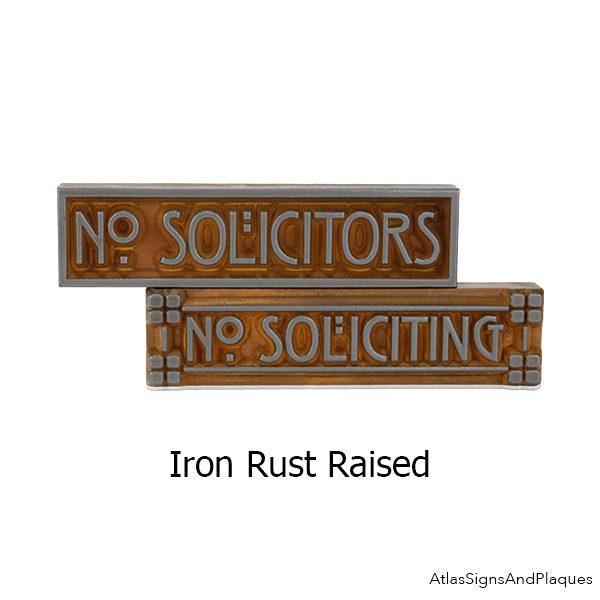 Raised Craftsman Mini Phrase Plaque