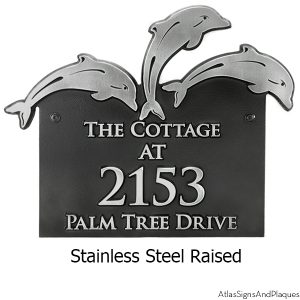 Jumping Dolphin Address Sign