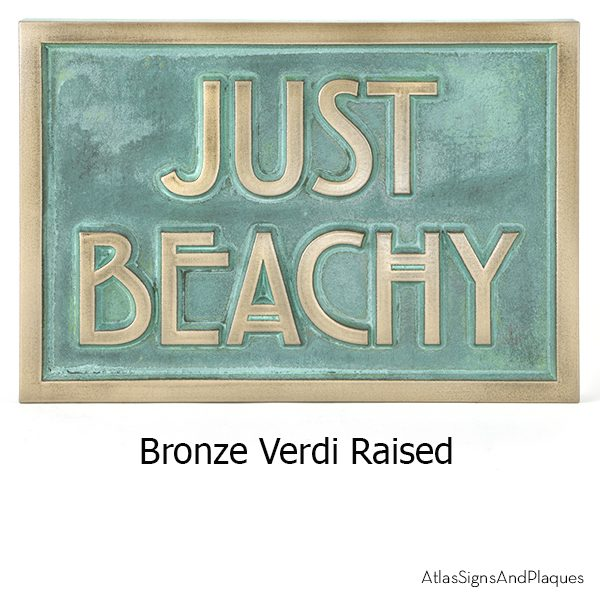 Stickley Phrase Plaque Bronze Verdi Raised