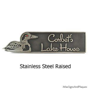 Loon Lake house sign