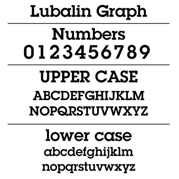 Lubalin Graph Font