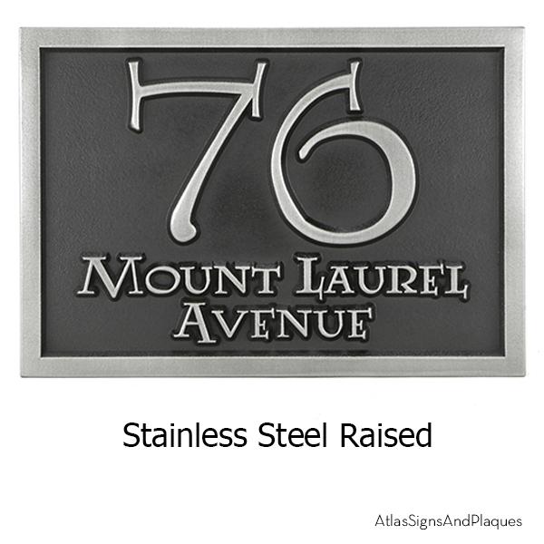 Lumos Address Plaque Stainless Steel Raised