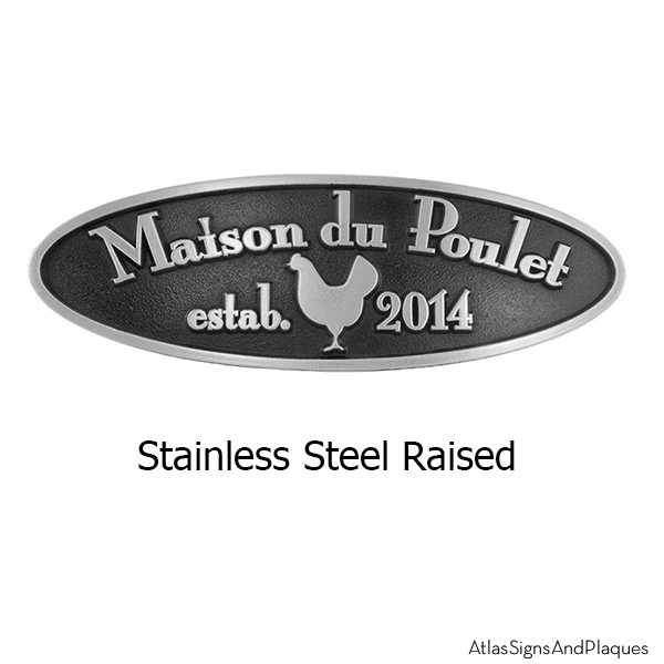 Stainless Steel Hen House Plaque