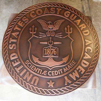 Coast Guard Academy Plaque