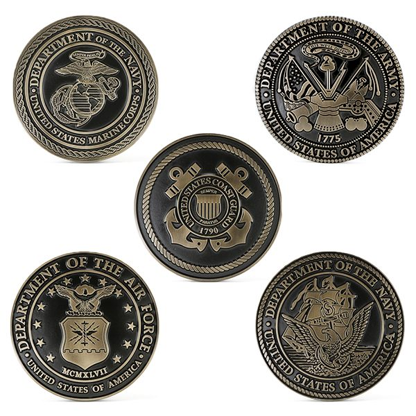 Bronze Military Service Plaques – Set Of 5 Branches