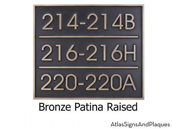 Modern Advantage Multi-Address Plaque