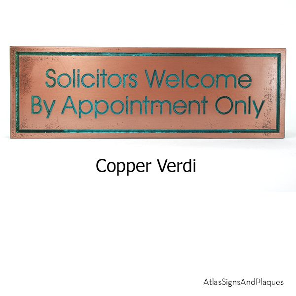 Modern Advantage No Solicitors Copper Verdi
