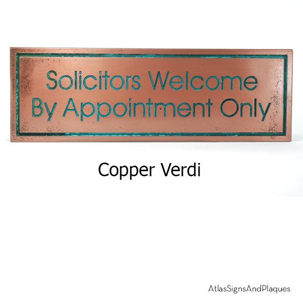 Modern Advantage No Solicitors Copper Verdi